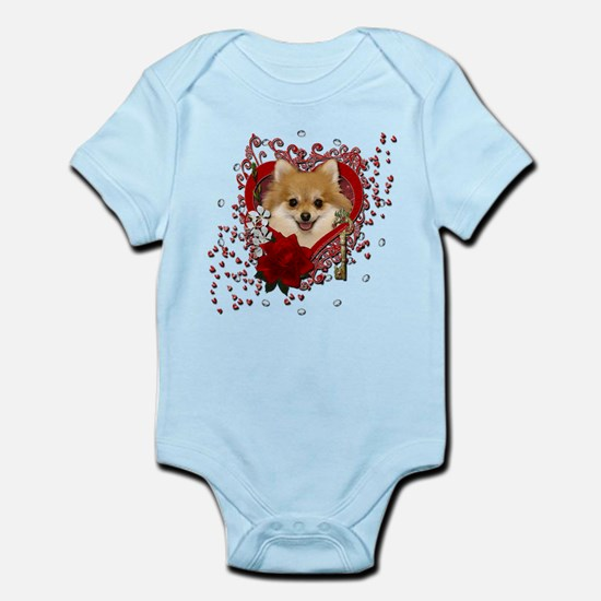 Valentines - Key to My Heart Pomeranian Infant Bod