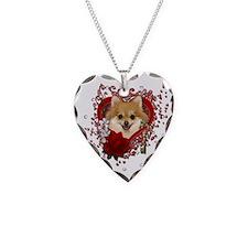 Valentines - Key to My Heart Pomeranian Necklace