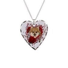 Valentines - Key to My Heart Pomeranian Necklace H