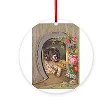 Victorian Card #3 Ornament (Round)
