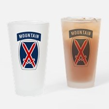 10th Mountain Drinking Glass
