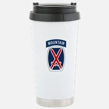10th Mountain Stainless Steel Travel Mug