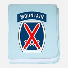 10th Mountain baby blanket
