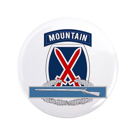 """10th Mountain CIB 3.5"""" Button"""