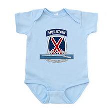 10th Mountain CIB Infant Bodysuit