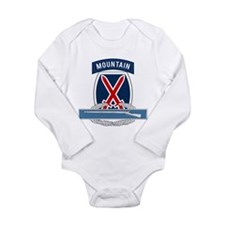 10th Mountain CIB Long Sleeve Infant Bodysuit
