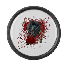 Valentines - Key to My Heart Newfie Large Wall Clo