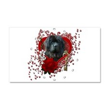 Valentines - Key to My Heart Newfie Car Magnet 20