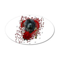 Valentines - Key to My Heart Newfie 22x14 Oval Wal