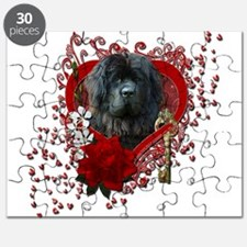 Valentines - Key to My Heart Newfie Puzzle