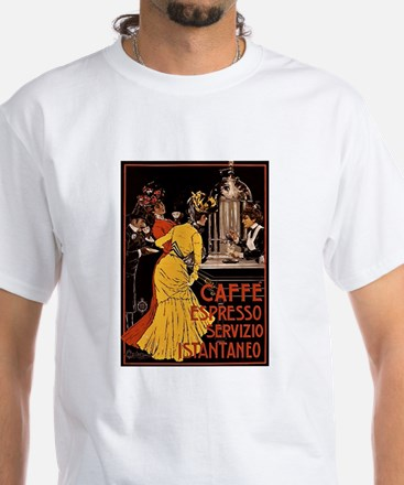 Cafe Espresso White T-Shirt