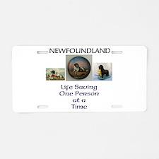 Cute Newfoundland rescue Aluminum License Plate