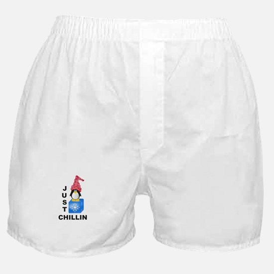 Just Chillin Penguin Boxer Shorts