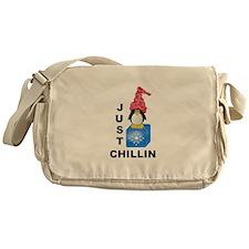 Just Chillin Penguin Messenger Bag