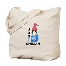 Just Chillin Penguin Tote Bag