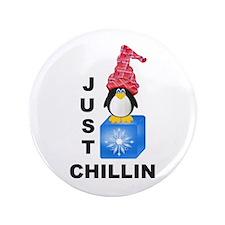 "Just Chillin Penguin 3.5"" Button"