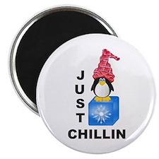 Just Chillin Penguin Magnet