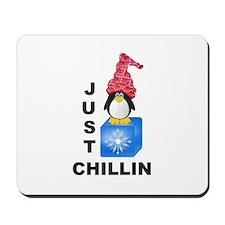 Just Chillin Penguin Mousepad