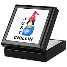 Just Chillin Penguin Keepsake Box