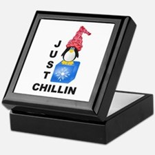 Just Chillin Penguin Keepsake Box