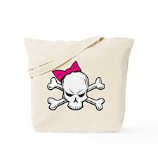 Girly Skull Tote Bag