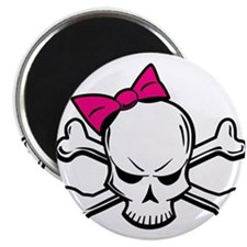 Girly Skull Magnet