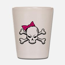 Girly Skull Shot Glass