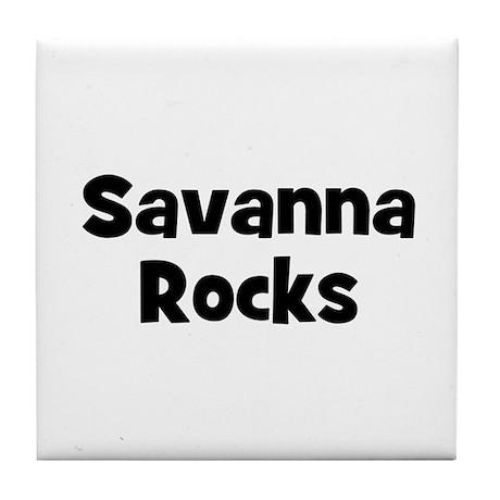 Savanna Rocks Tile Coaster