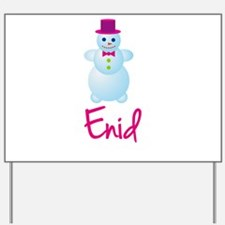 Enid the snow woman Yard Sign