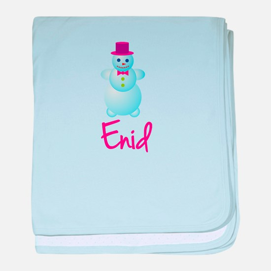 Enid the snow woman baby blanket