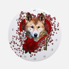 Valentines - Key to My Heart Dingo Ornament (Round