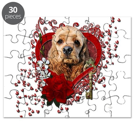 Valentines - Key to My Heart Cocker Spaniel Puzzle