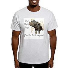 """Pot Belly Pig"" Ash Grey T-Shirt"