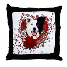 Valentines - Key to My Heart Border Collie Throw P