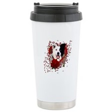 Valentines - Key to My Heart Border Collie Stainle