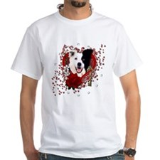 Valentines - Key to My Heart Border Collie Shirt