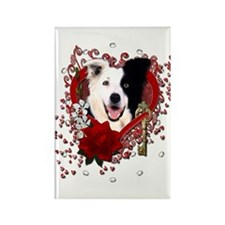 Valentines - Key to My Heart Border Collie Rectang