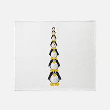Penguin Pile Throw Blanket