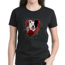 Valentines - Key to My Heart Border Collie Tee