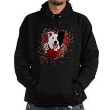Valentines - Key to My Heart Border Collie Hoodie