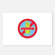 No Soy For Me! By Allergy Postcards (Package of 8)