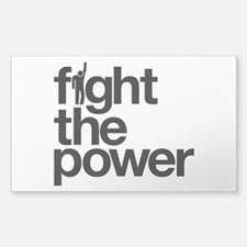 Fight the Power Sticker (Rectangle)