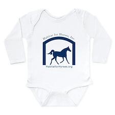 Unique Equine rescue Long Sleeve Infant Bodysuit