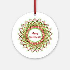 Merry Merriment Christmas Ornament (Round)