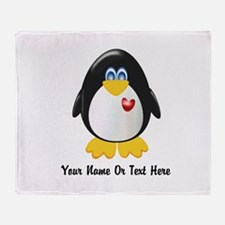 Customizable Penguin Throw Blanket