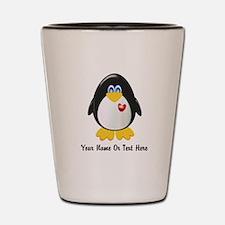Customizable Penguin Shot Glass