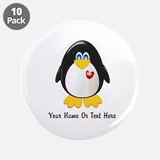 "Customizable Penguin 3.5"" Button (10 pack)"