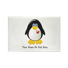 Customizable Penguin Rectangle Magnet