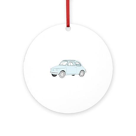 Fiat 500 Topolino Ornament (Round)