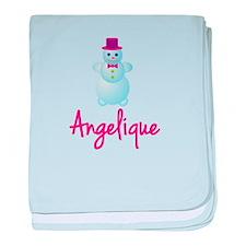 Angelique the snow woman baby blanket